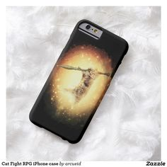 Cat Fight RPG iPhone case