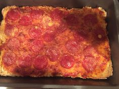 No-Knead Deep-Dish Pepperoni Pizza