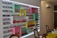 Home Nail Salon, Nail Salon Design, Nail Salon Decor, Salon Interior Design, Nail Parlour, Perfume Organization, Nail Store, Kids Spa, Nail Room
