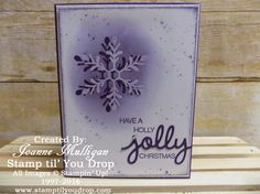 Holly Jolly Greetings and coordinating thinlits - created by Joanne Mulligan, Independent Stampin' Up! Demonstrator.