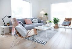 A Pretty Apartment in Soft Pastels with Lots of Stylish Furnishings - NordicDesign
