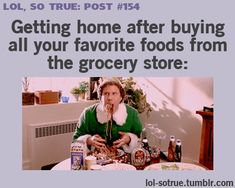 food groups, shop, funni, junk food, candy canes, grocery stores, buddy the elf, true stories, kid