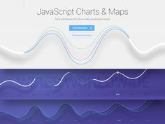 Working on some curved line charts for the landing page of Javascript charting library.