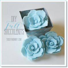 Make fake succulents out of felt