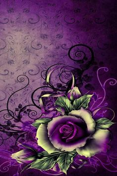 Purple Art - Purple Rose