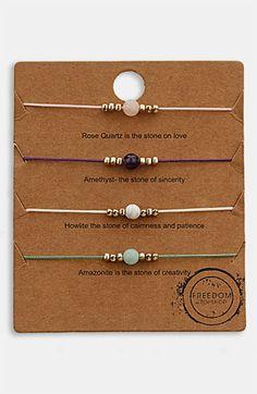 Topshop 'Message' Friendship Bracelets (Set of 3) available at #Nordstrom