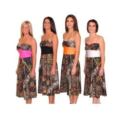 lmao this is for you Becca if I have to wear that camo wedding dress you pick than here's your bridesmaid dress