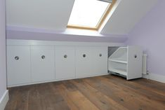 If you are lucky enough to have an attic in your home but haven't used this space for anything more than storage, then it's time to reconsider its use. An attic Attic Bedroom Storage, Attic Master Bedroom, Attic Bedroom Designs, Loft Storage, Attic Bathroom, Bedroom Loft, Storage Spaces, Eaves Bedroom, Attic Wardrobe