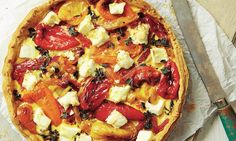 Yotam Ottolenghi's mixed pepper and feta tart.