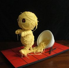 Ramen Noodles Mummy! Cute designer toys and collectibles. Kawaii!