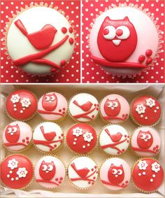 Owl & Bird Cupcakes from hostessblog.com