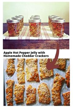 Homemade Apple Hot Pepper Jelly makes the most delicious gifts not to mention it is the perfect balance of sweet and spicy. Get step-by-step instructions on how to make this obsessively good homemade jalapeno jelly at home. Try with cheddar pie crackers! #pepperjelly #applejelly #canning #jellyrecipe