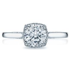Shop online TACORI 2620RDSM Halo 18K - White Gold Diamond Engagement Ring at Arthur's Jewelers. Free Shipping