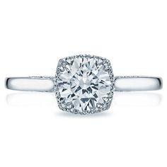 Shop online TACORI 2620RDSM Halo 18K - White Gold Diamond Engagement Ring at Arthur's Jewelers. Free Shipping