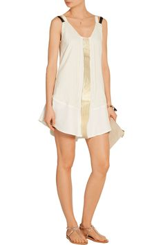 Zeus+Dione | Alcmene metallic striped silk crepe de chine mini dress | NET-A-PORTER.COM