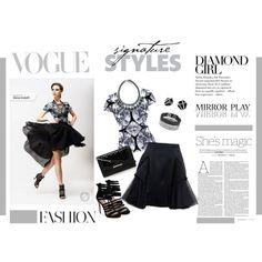OARTTEE Diamond Girl by elena-indolfi on Polyvore featuring #OArtTee Diamante T-shirt