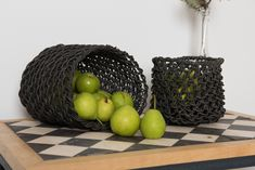 House of Q has made this table using recycle Austrian tiles - you can combine them with baskets in recycle paper for your own sustainable look. Sustainable Looks, Recycle Paper, Eco Label, New Nordic, World Of Interiors, Nordic Design, Recycled Materials, Caramel Apples, Home Textile