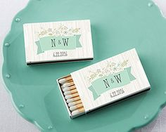 Personalized Black Matchboxes - Rustic (Set of From vintage wedding decor that brightens up the venue to rustic chic wedding favors for your bridal shower, make sure favors from Kate Aspen are invited to the party, like these personalized matchb Unique Wedding Favors, Chic Wedding, Wedding Events, Wedding Ideas, Wedding Planning, Budget Wedding, Fall Wedding, Wedding List, Wedding Boxes