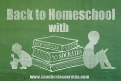 Back to Homeschool With Sandbox to Socrates: News and a Giveaway!