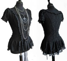 Favorite  Like this item?    Add it to your favorites to revisit it later.  top Frances black lace, victorian inspired, lolita, gothic, steampunk, burlesque, Somnia Romantica by Marjolein Turin