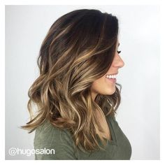 90 Balayage Hair Color Ideas with Blonde, Brown and Caramel Highlights ❤ liked on Polyvore featuring beauty products, haircare and hair color