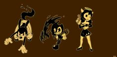 Bendy And The Ink Machine (Boris, Bendy & Alice Angel) Bendy Y Boris, Boris The Wolf, Machine Image, Alice Angel, Just Ink, Alien Art, New Backgrounds, Witch House, Ichimatsu