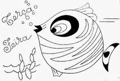 desenho semaninha do peixinho de aquario - terça feira