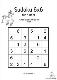 Round 1 of Sudoku: Sudoku puzzle Sudoku Puzzles, Printable Puzzles, Logic Puzzles, Logic Math, English Worksheets For Kids, Grande Section, Puzzle Books, Brain Teasers, Elementary Education