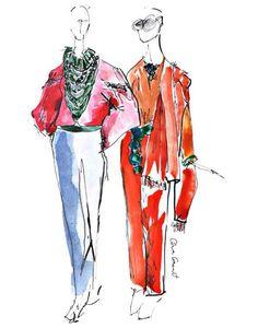 Anna Granat Fashion Illustration #fashion #illustration #fashionillustration #aquarelle #ink #art #annagranat