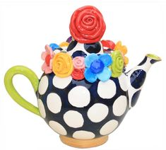 Mary Rose Young - Multiflower Encrusted Teapot