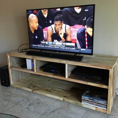 Reclaimed Wood Media Unit in Natural TV Stand Entertainment Center Console Rustic Beach House Cabin Shabby Chic Handmade Living Room Tv Stand Console, Diy Tv Stand, Pallet Furniture Tv Stand, Pallet Tv Stands, Reclaimed Wood Media Console, Tv Stand And Entertainment Center, Cabin Loft, Rack Tv, Cool Couches