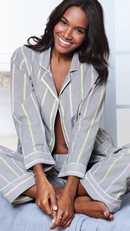Cotton Mayfair Pajamas from Victoria's Secret.
