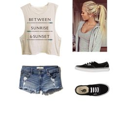 Amusement park outfit by travelchic1 on Polyvore featuring polyvore, fashion, style, Abercrombie & Fitch and Vans