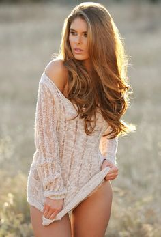 long and luxurious. I love this hair color and cut!