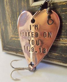 Hooked on You Fishing Lure Custom Men Gift Meaningful Gifts