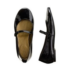 Girls' patent leather Mary Janes. -  polished with Vaseline every week before church