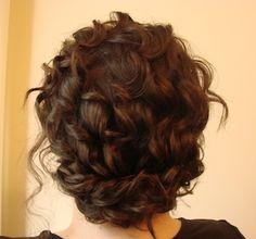 Natural curls, wrap-around braid