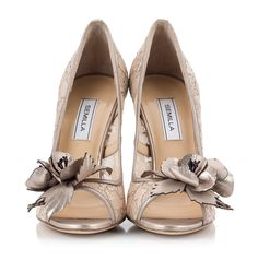 f54bdf72dca6 Semilla Beige lace floral-embellished peep-toe stiletto pumps