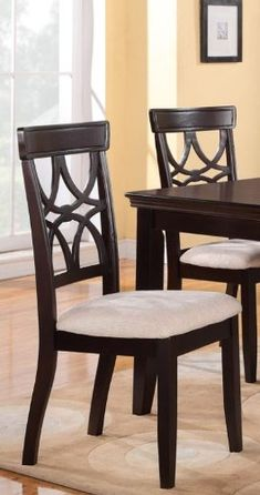 Create a fantastic setting for dining in your home with this elegant collection. Includes set of 2 dining chais, matching table sold separately. Some assembly m...
