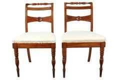 English Regency-Style Hall  Chairs, Pair