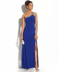 Hailey Logan Juniors' Back Cutout One-Shoulder Dress, Macy's. <3