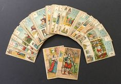 Antique Vintage Old Lenormand Fortune Telling Oracle Cards Deck 1890 Grand Jeu | eBay