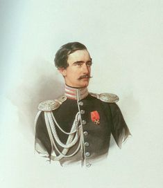 Count Grigory Alexandrovich Stroganov, second husband of Grand Duchess Maria Nikolaevna of Russia (former Duchess of Leuchtenberg), by Vladimir Ivanovich Hau House Of Romanov, Alexandra Feodorovna, Miniature Portraits, Tsar Nicholas, Her Brother, Watercolor Portraits, Princess Charlotte, Royalty, History