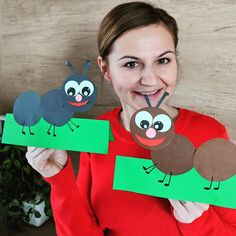 Ants🐜 These ants are one of my most favorite craft😉 Ant Crafts, Insect Crafts, Kindergarten Crafts, Preschool Crafts, Crafts For Kids, Letter D Crafts, Alphabet Crafts, Art Drawings For Kids, Art For Kids
