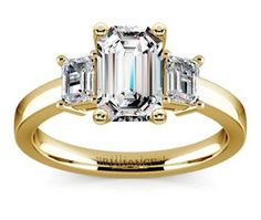 Emerald Emerald Diamond Engagement Ring in Yellow Gold  http://www.brilliance.com/engagement-rings/emerald-diamond-ring-yellow-gold