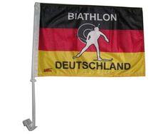 """Tolle Fanartikel zur Fußball-WM 2014, wie """"Biathlon-Autoflagge Deutschland."""" jetzt hier kaufen: http://fussball-fanartikel.einfach-kaufen.net/autozubehoer-fuer-fans/biathlon-autoflagge-deutschland/"""