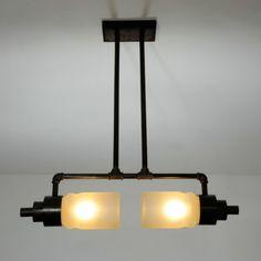 Fabrik-Lampe-Designer-Pendel-Leuchte-Industrie-Art-Deco-Bauhaus