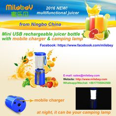 2016 Wireless portable rechargeable USB Juicer Blender Protein Shaker Smoothie Sports Bottle with mobile charger and camping lamp #Juicing #JuiceMachine #Blending #Vegetables #outdoor #sports #outdoorlighting #outdoorlamp #outdoorlight #campinglamp #campinglight #usblamp #juicer #blender #mixer #sportbottle #shakentake #miniblender #minijuicer #electricjuicer #minimixer #mixeur #licuadora #ブレンダー #Entsafter #соковыжималка #exprimidor #ジューサー #miniblenderbottle #healthyfood