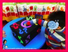 cajadelasorpresa_Eugenia Romero Alessi, Party Activities, Activities For Kids, Organisation, Sensory Boxes, Speech Therapy, Detective, Teaching, Education