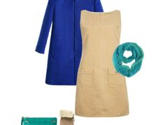 Royal Blue and Teal Outfit Idea For Light Spring